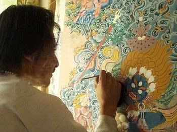 藏族小动物画图