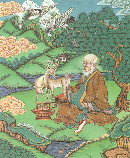 动物和大自然景物,体现着藏族远古原始宗教信仰